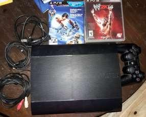 PlayStation 3 con 6 juegos y un control